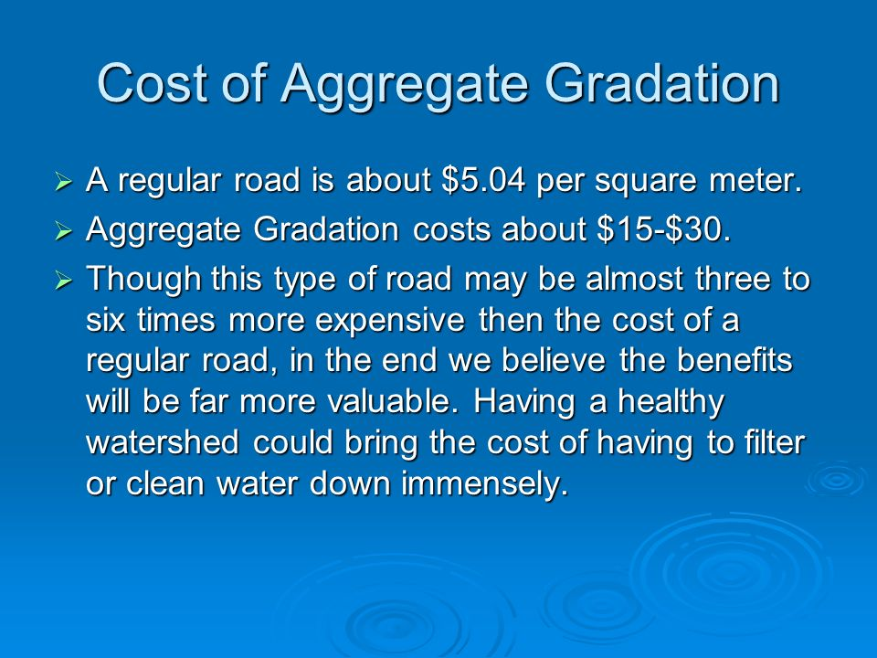Cost of Aggregate Gradation