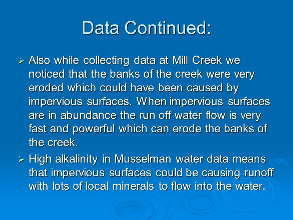 Data Continued: