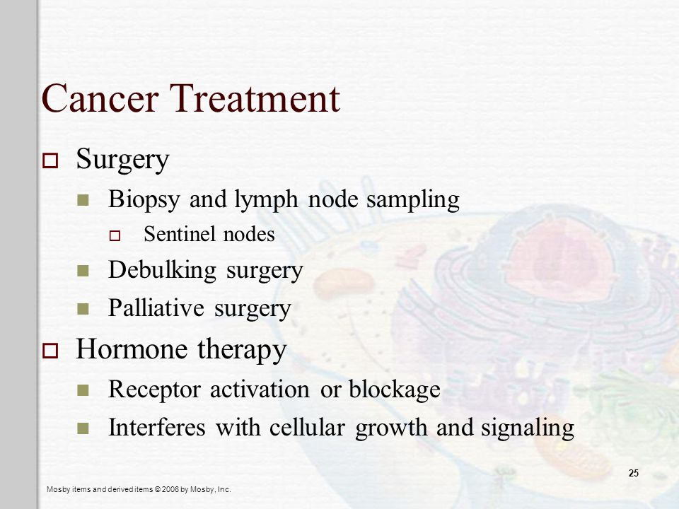 Cancer Treatment Surgery Hormone therapy