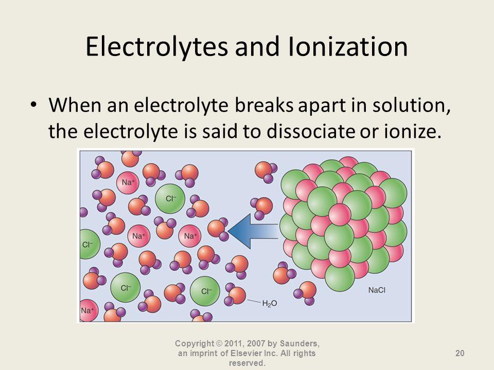 Electrolytes and Ionization