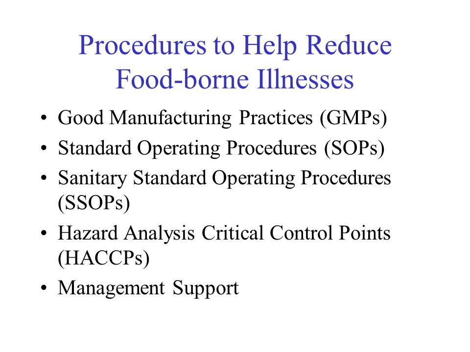 Procedures to Help Reduce Food-borne Illnesses