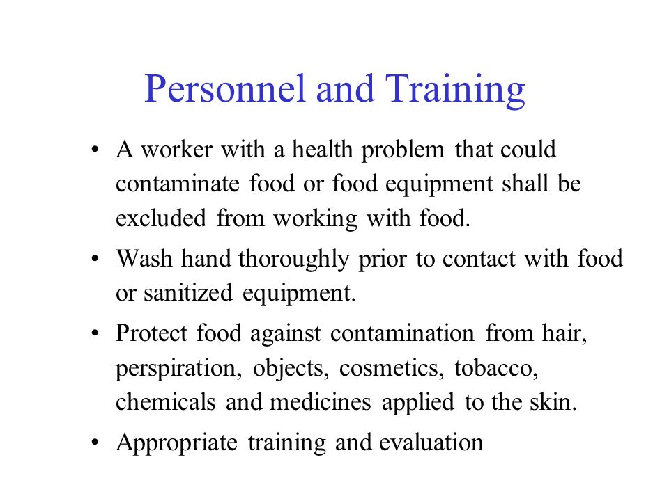 Personnel and Training