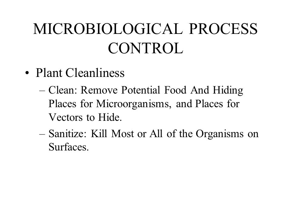 MICROBIOLOGICAL PROCESS CONTROL
