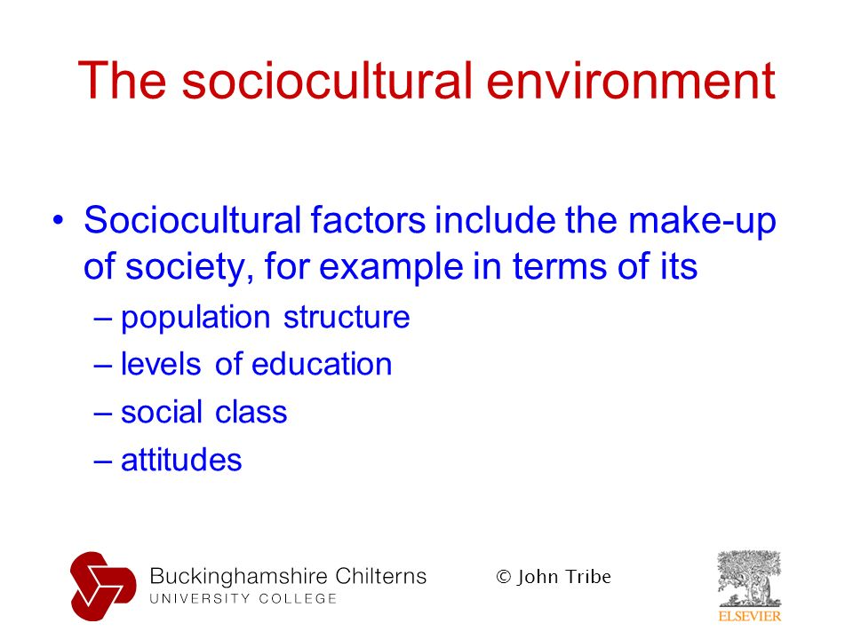 the history of socio cultural environment Definition of socio-cultural environment: a set of beliefs, customs, practices and  behavior that exists within a population international companies often include an .