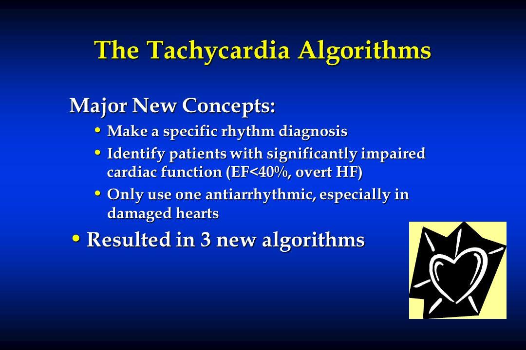 The Tachycardia Algorithms