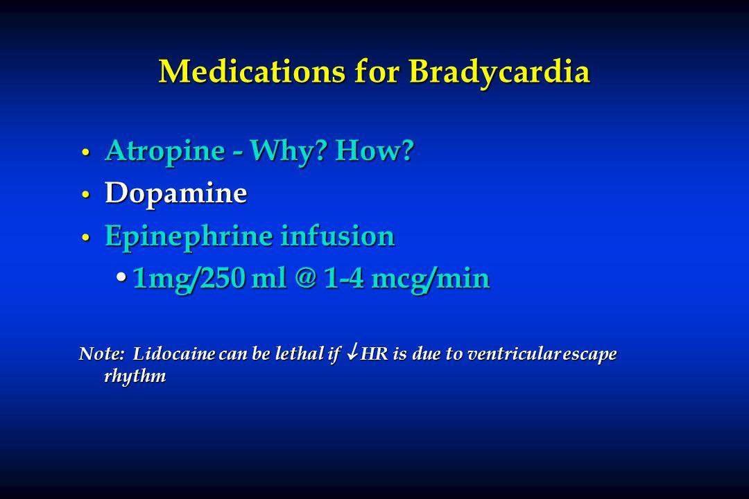 Medications for Bradycardia