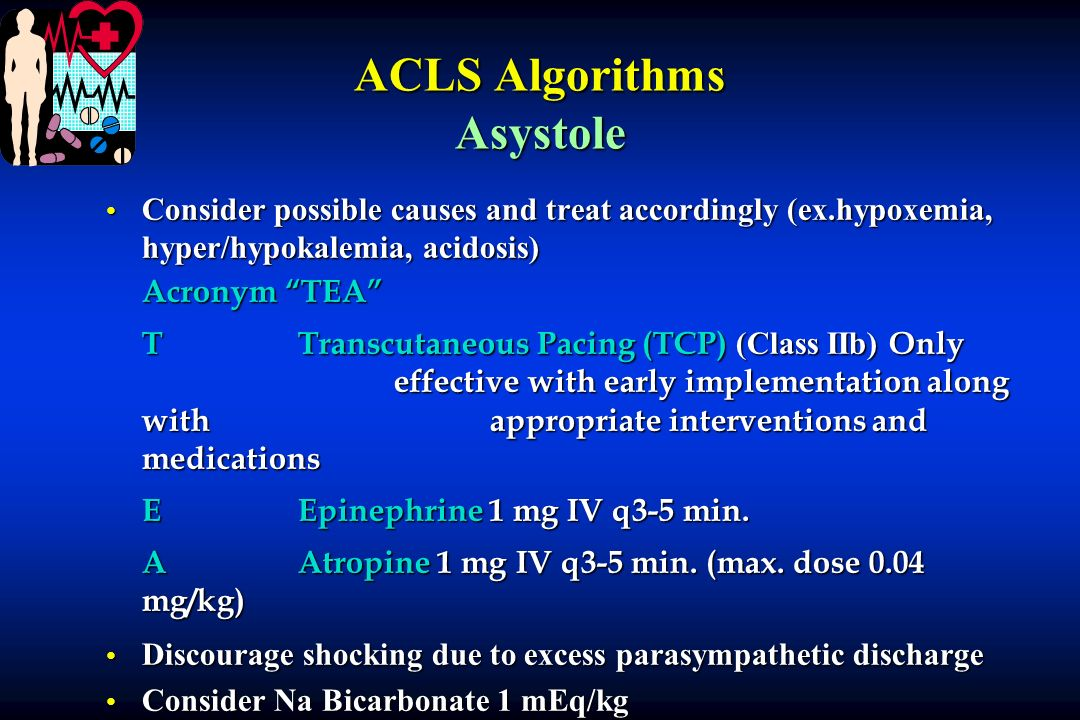 ACLS Algorithms Asystole