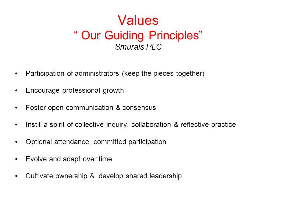 Values Our Guiding Principles Smurals PLC