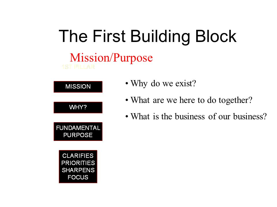 The First Building Block