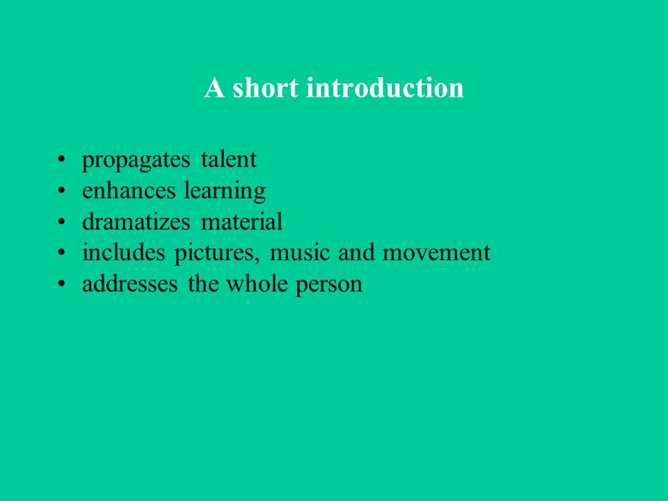 A short introduction propagates talent enhances learning
