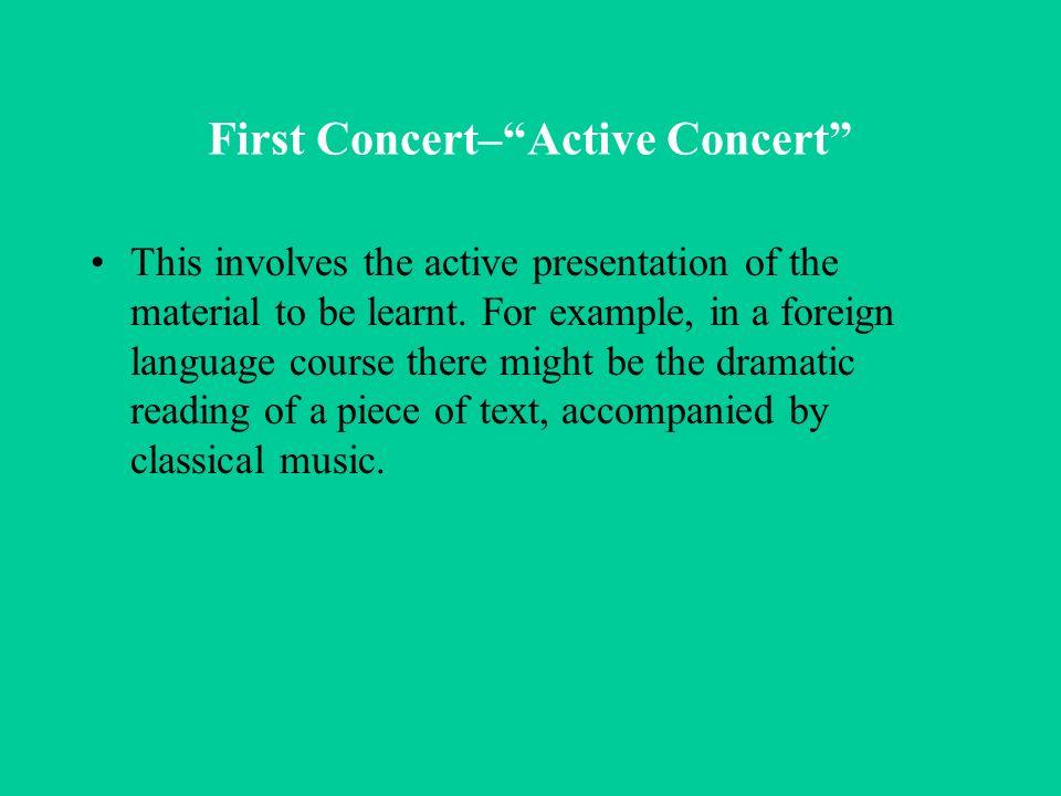 First Concert– Active Concert