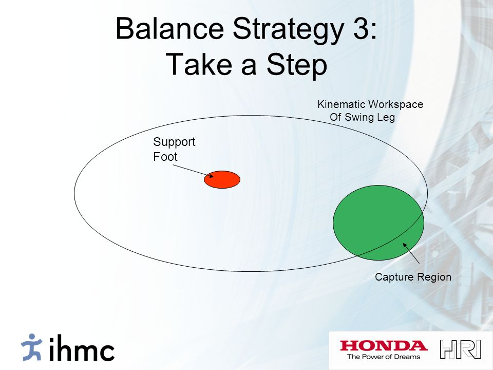 Balance Strategy 3: Take a Step