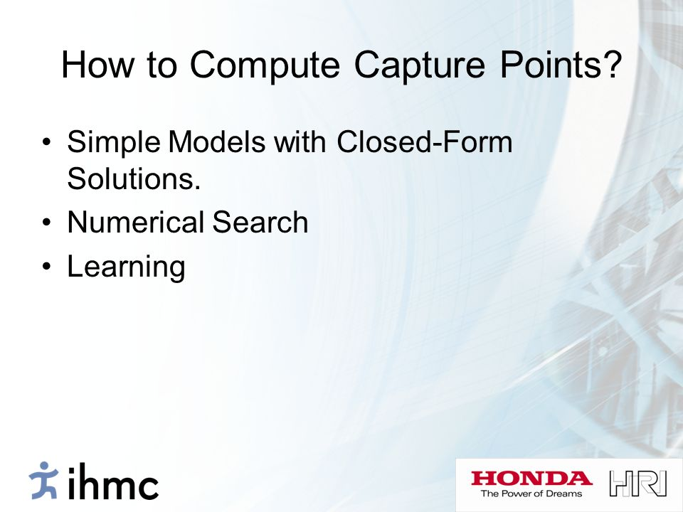 How to Compute Capture Points