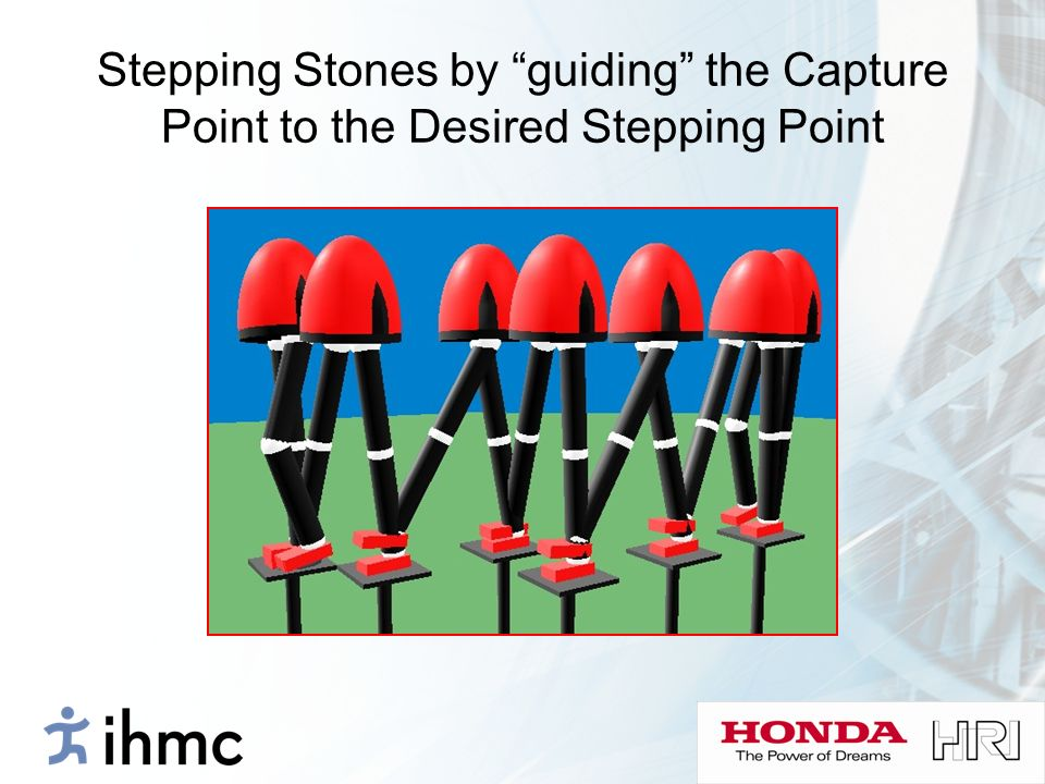 Stepping Stones by guiding the Capture Point to the Desired Stepping Point