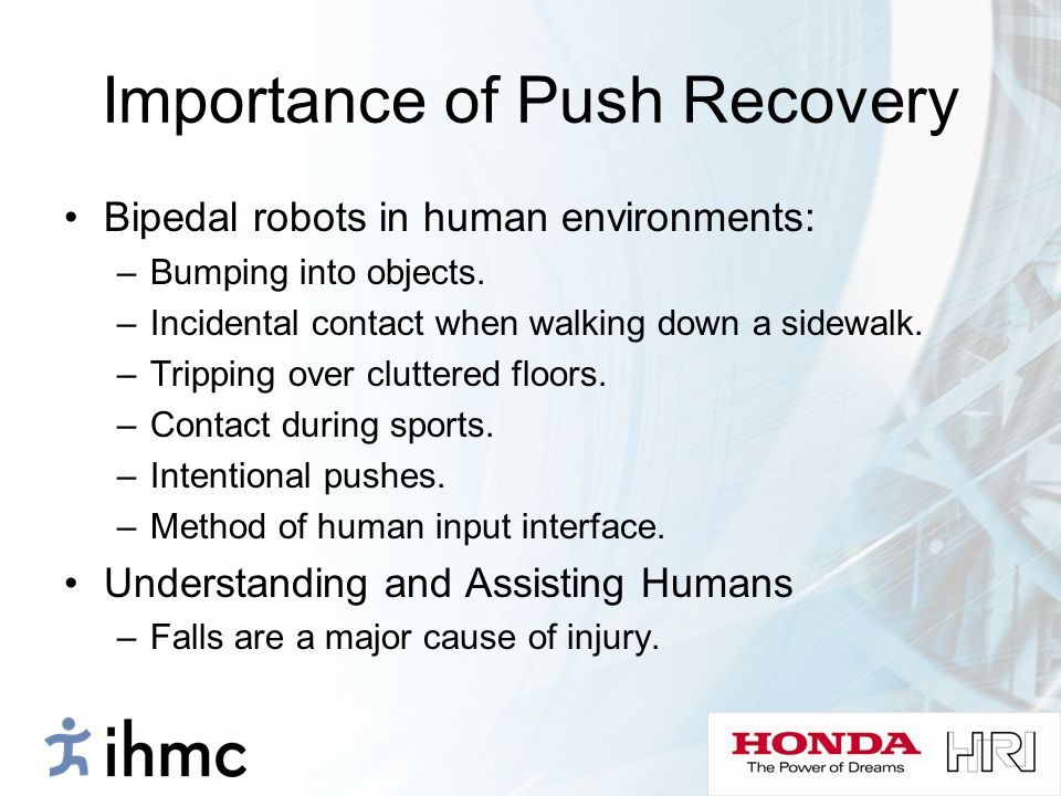 Importance of Push Recovery
