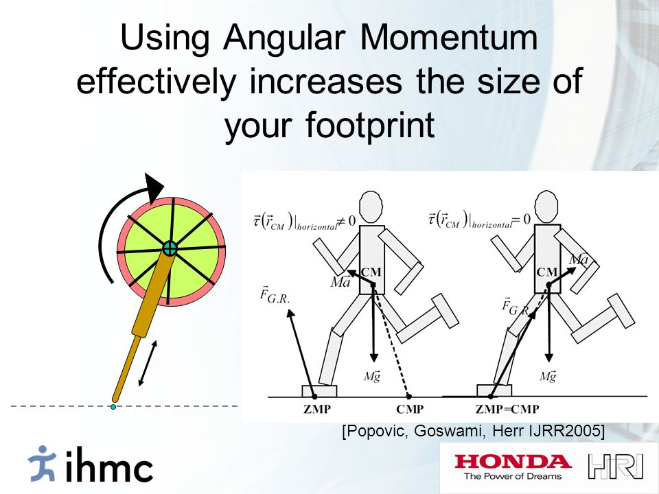 Using Angular Momentum effectively increases the size of your footprint