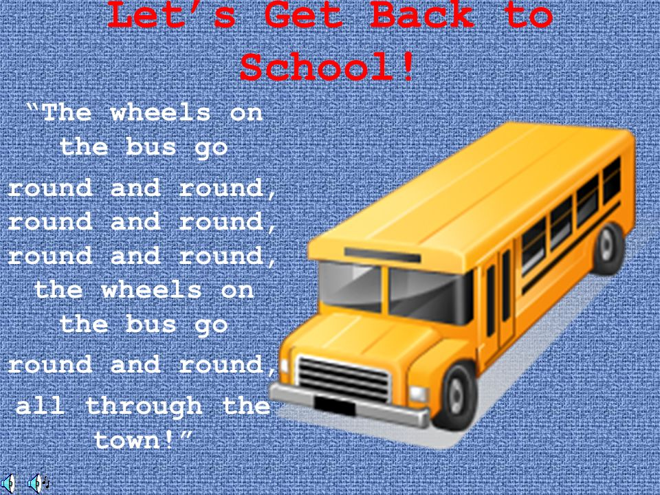 Let's Get Back to School!