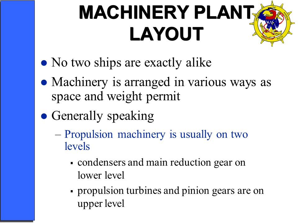 MACHINERY PLANT LAYOUT