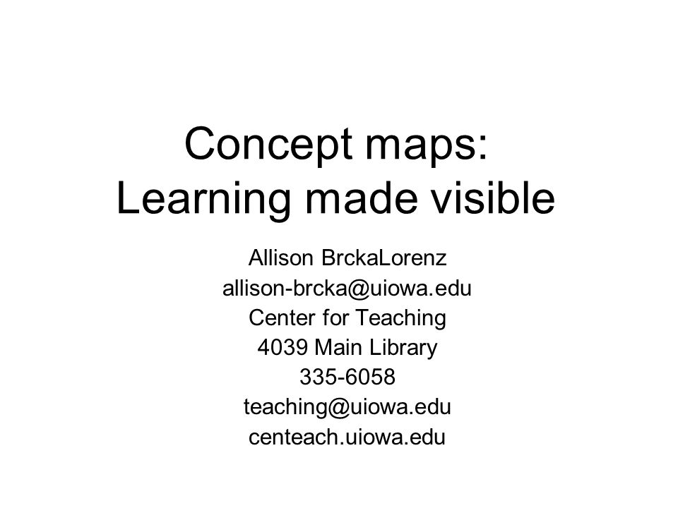 Concept maps: Learning made visible