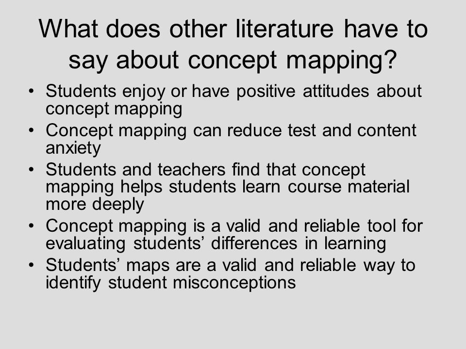 What does other literature have to say about concept mapping