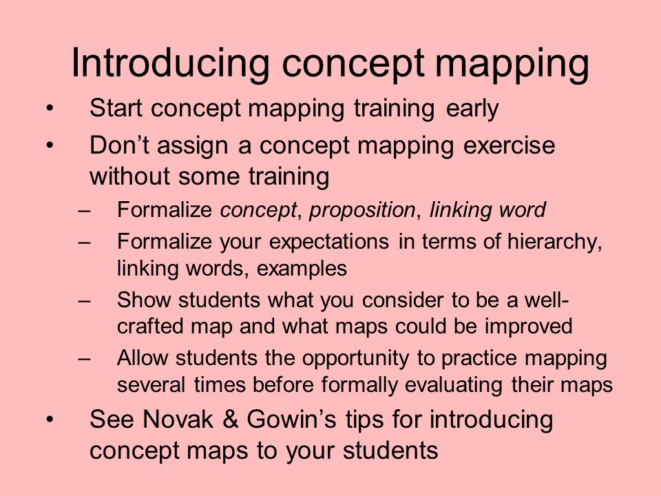 Introducing concept mapping