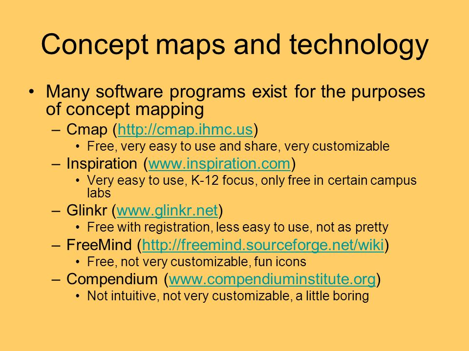 Concept maps and technology