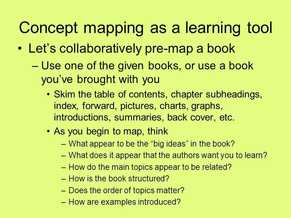 Concept mapping as a learning tool