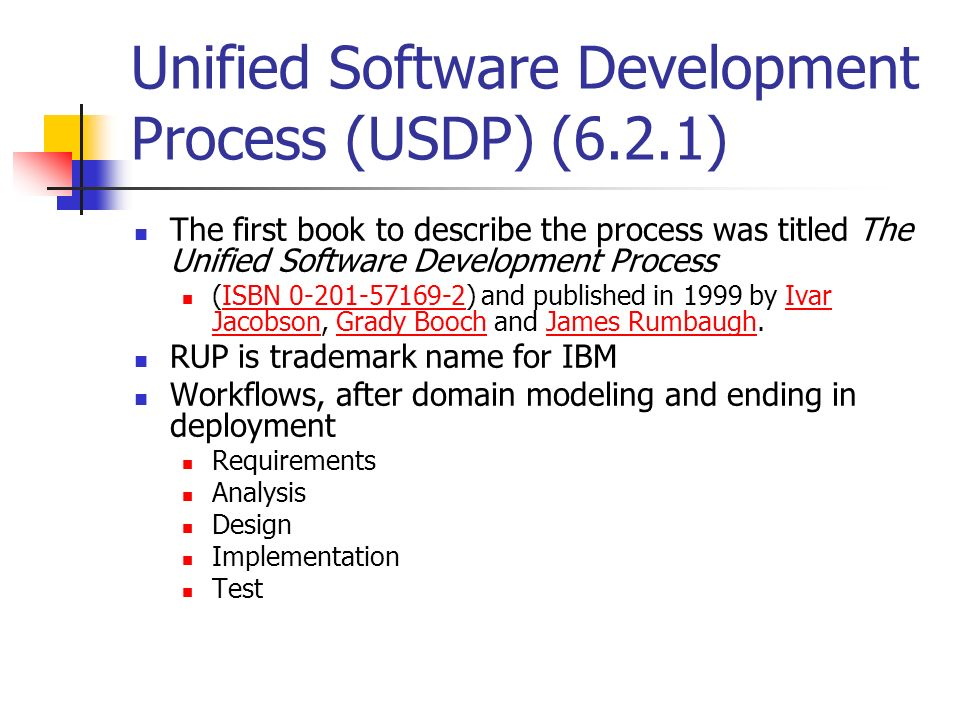 Unified Software Development Process (USDP) (6.2.1)