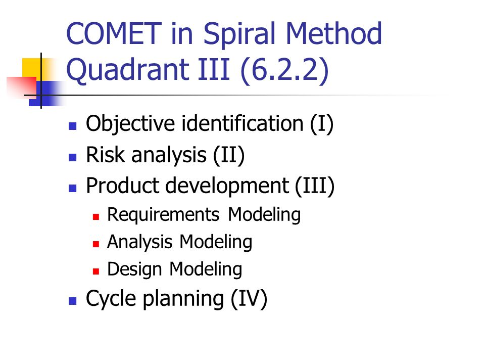 COMET in Spiral Method Quadrant III (6.2.2)