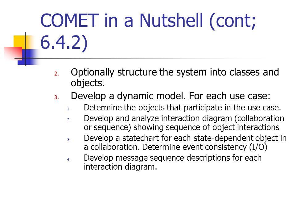 COMET in a Nutshell (cont; 6.4.2)
