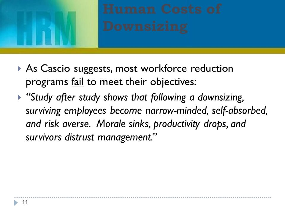 employee morale after downsizing Effect of downsizing on employees morale 1 table of contents 1 introduction 2 literature review conceptual approach to employee downsizing.