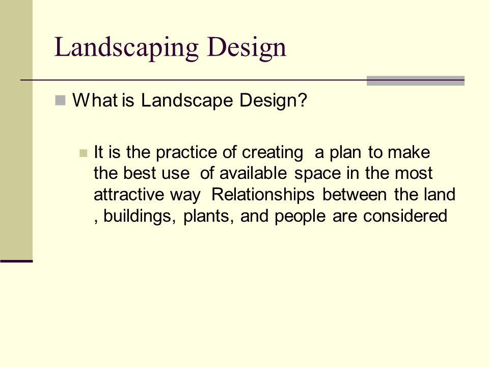 Landscaping Design What is Landscape Design