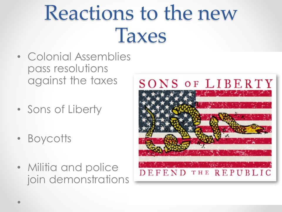 Reactions to the new Taxes