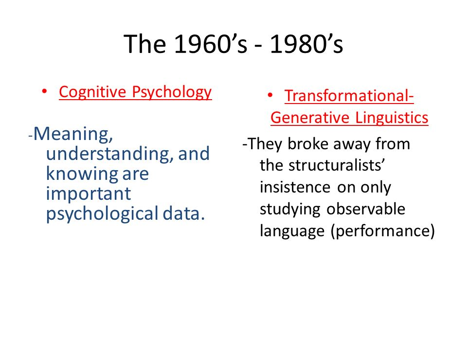 Transformational-Generative Linguistics
