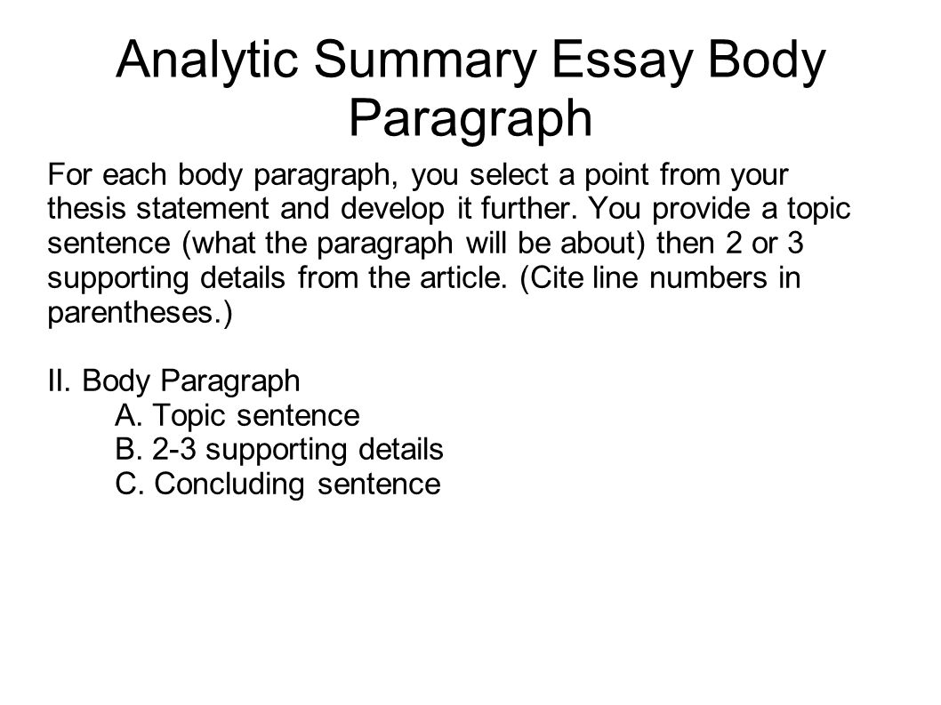 Developing body essay