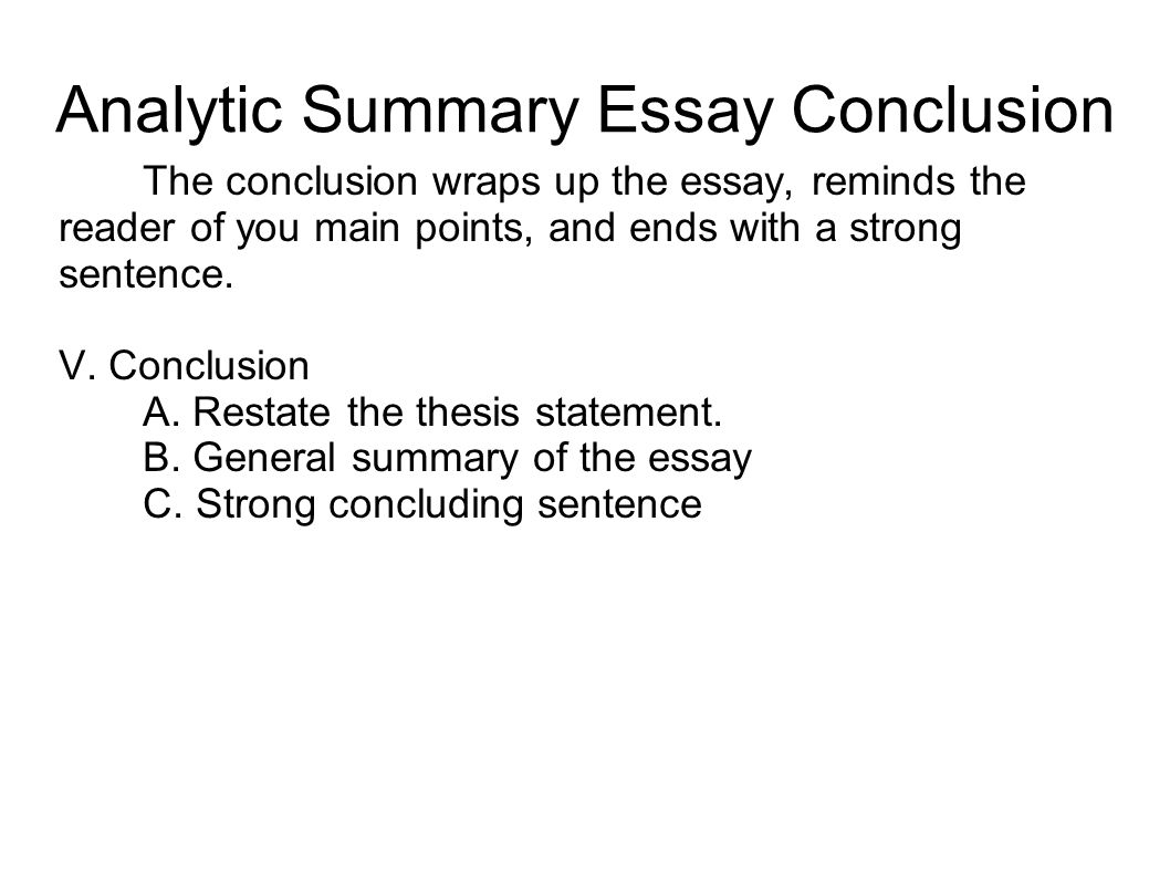 Strong college essay conclusions
