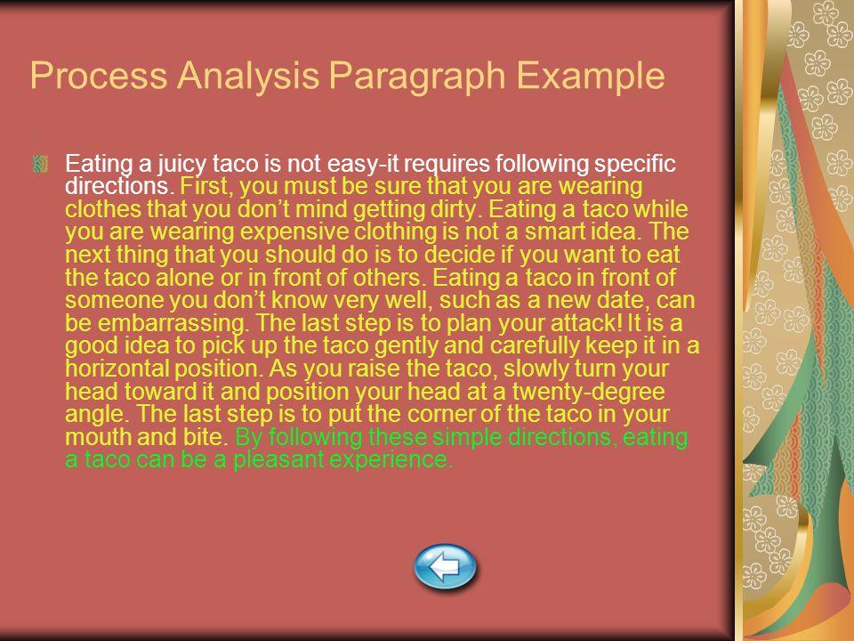 Samples of process analysis essay