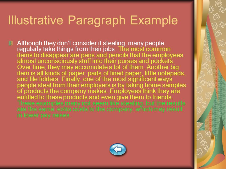 Illustrative Paragraph Example