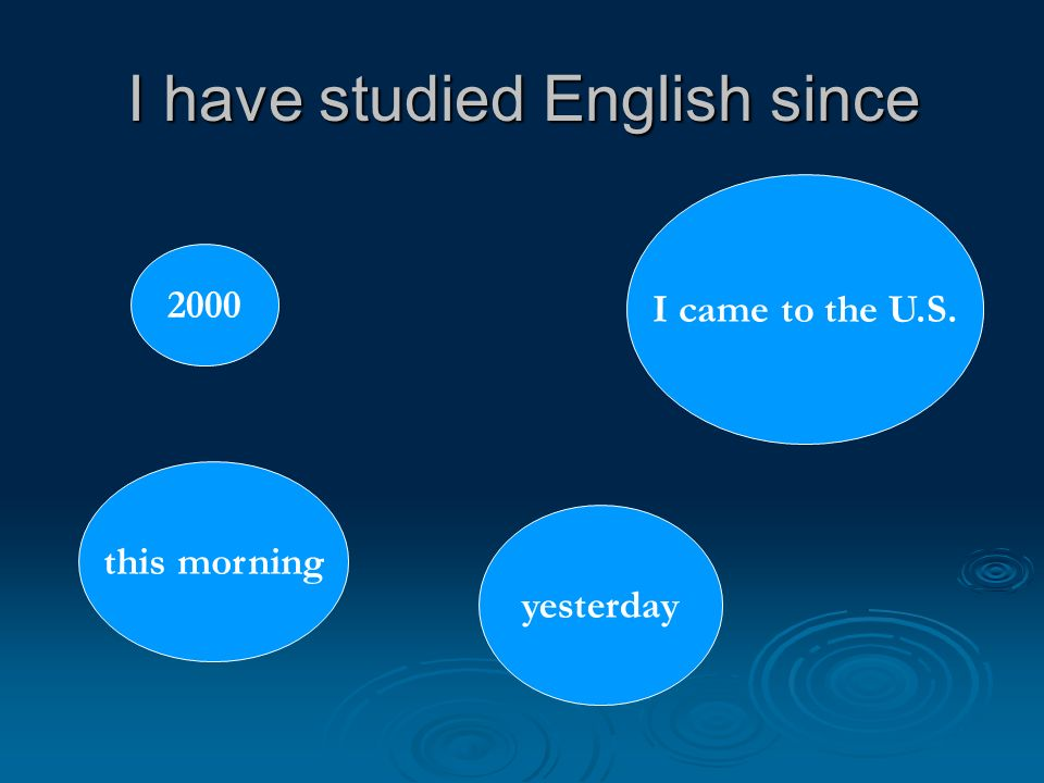 I have studied English since