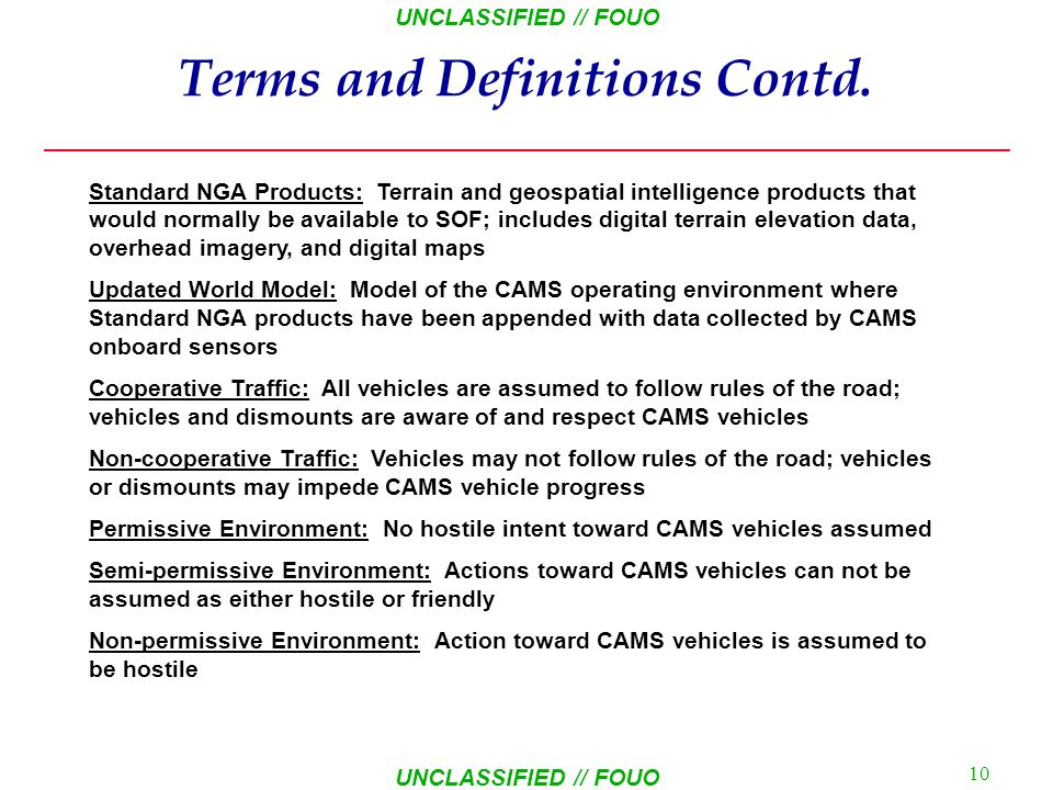 Terms and Definitions Contd.