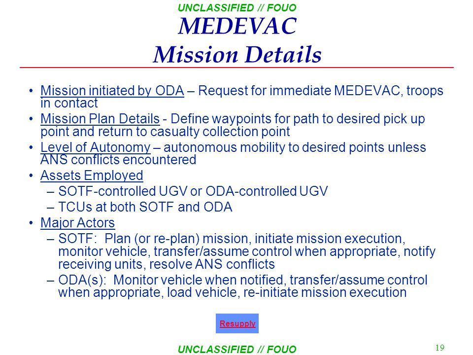 MEDEVAC Mission Details