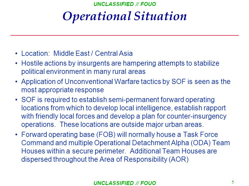 Operational Situation