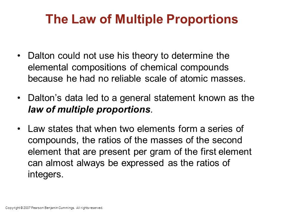 Atomic Structure Unit 2 Atoms and Molecules The idea that matter – Law of Multiple Proportions Worksheet