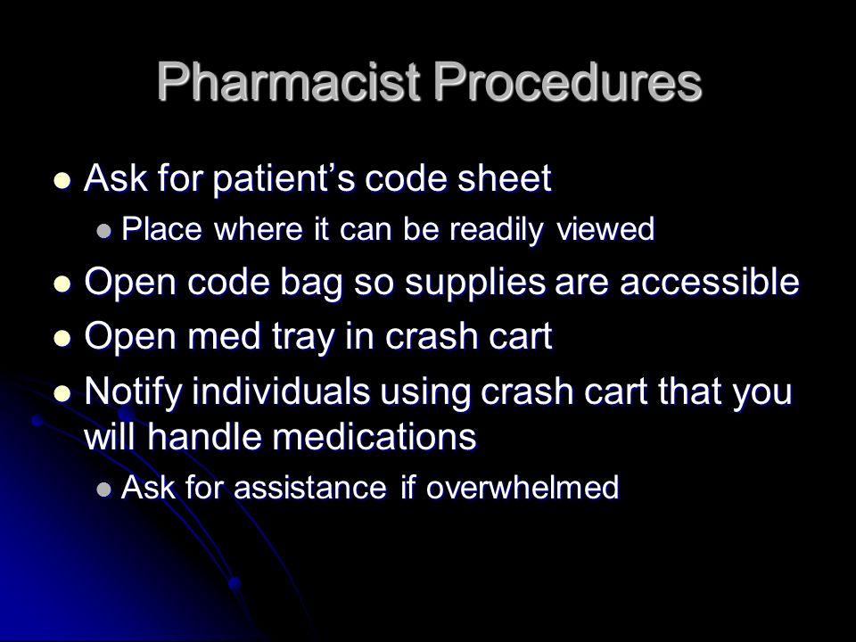 Pharmacist Procedures