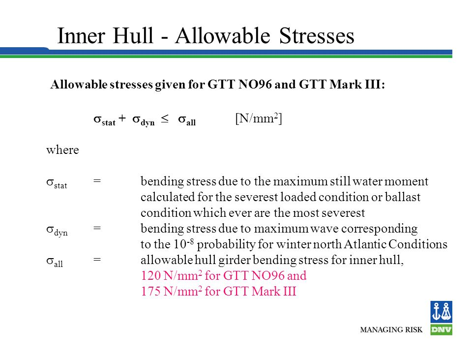 Inner Hull - Allowable Stresses