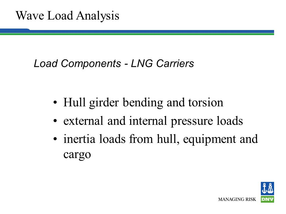 Load Components - LNG Carriers