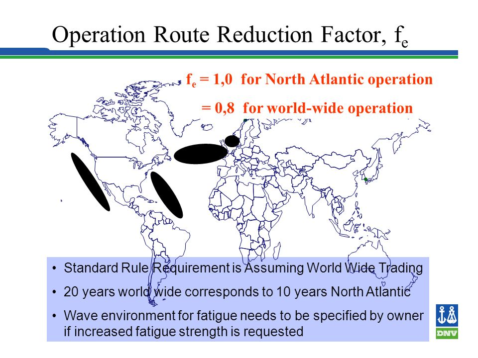 Operation Route Reduction Factor, fe