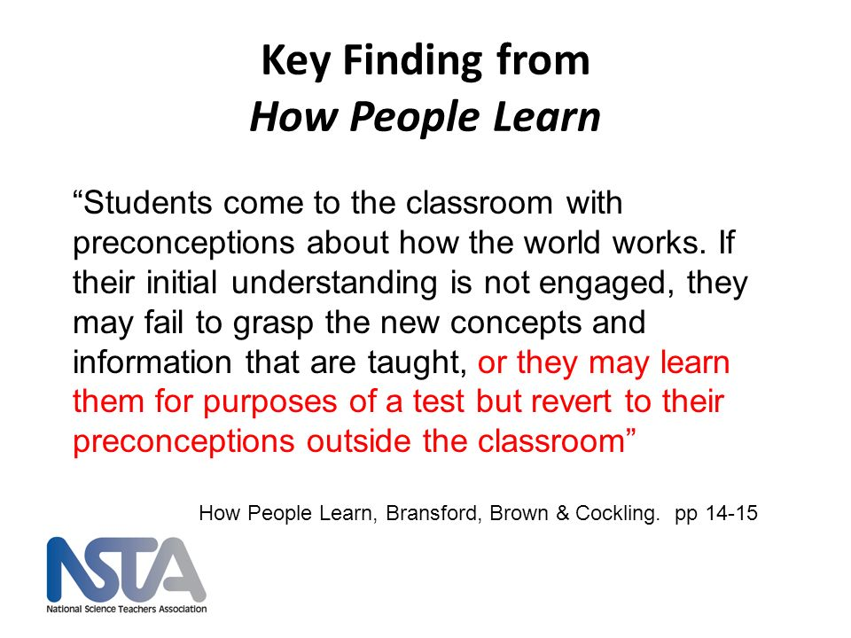 Key Finding from How People Learn