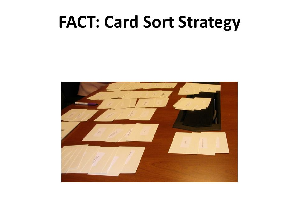 FACT: Card Sort Strategy