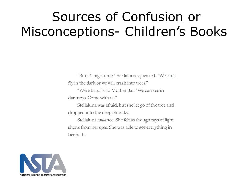 Sources of Confusion or Misconceptions- Children's Books